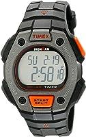 Timex Men's TW5K90900 Ironman Classic 30 Full-Size Black/Orange Resin Strap Watch