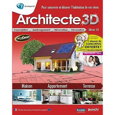 Avanquest Architect 3D Silver 15, Win, FR - Software de diseño automatizado (CAD) (Win, FR, ENG, 5500 MB, 512 MB, Pentium 1.00 GHz)
