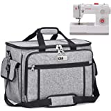 Sewing Machine Cover CAB55 Sewing Machine Carrying Bag with Removable Padding Pad, Tote Bag for Sewing Machine Case and Extra