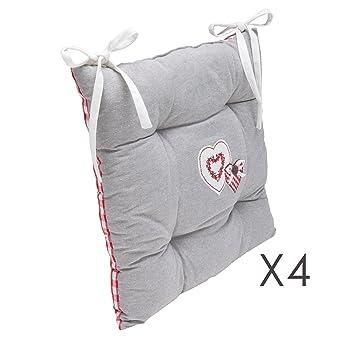 Lot De 4 Galettes Chaise 40x40