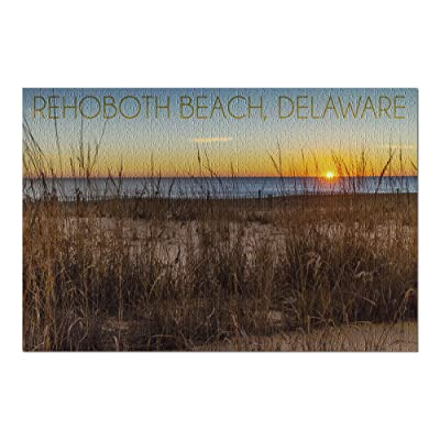 Rehoboth Beach, Delaware - Beach and Sunrise (Premium 1000 Piece Jigsaw Puzzle for Adults, 20x30, Made in USA!): Toys & Games