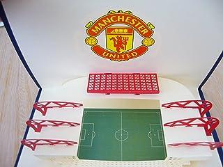 BC Worldwide Ltd Handmade 3D pop-up biglietto di auguri pop-up Manchester United calcio club vecchio trafford stadio compleanno Natale San Valentino giorno del papà laurea anno nuovo notte notte festa invito regalo