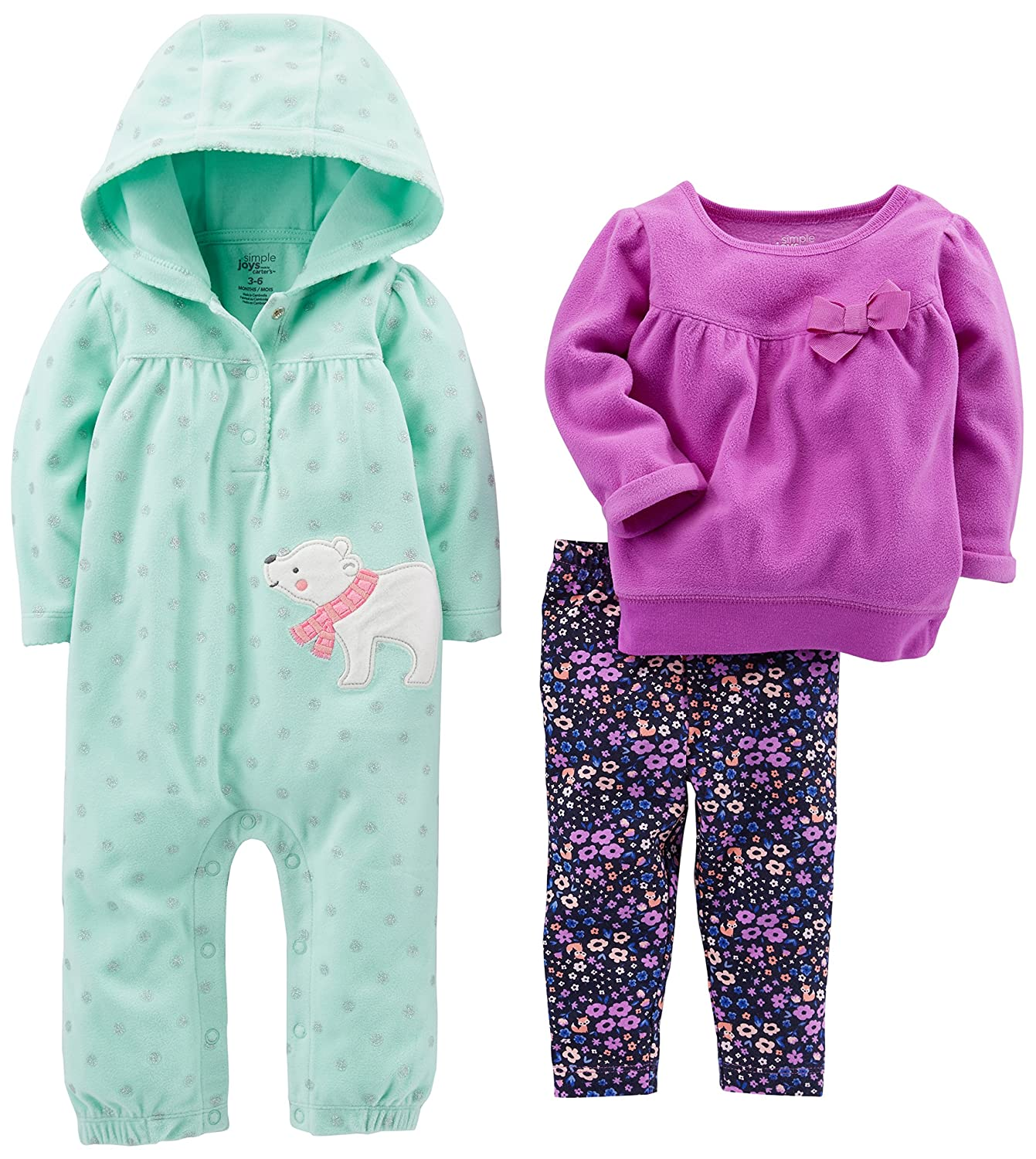 Simple Joys by Carter's Baby-Girls Baby 3-Piece Playwear Set Simple Joys by Carter' s P39G002