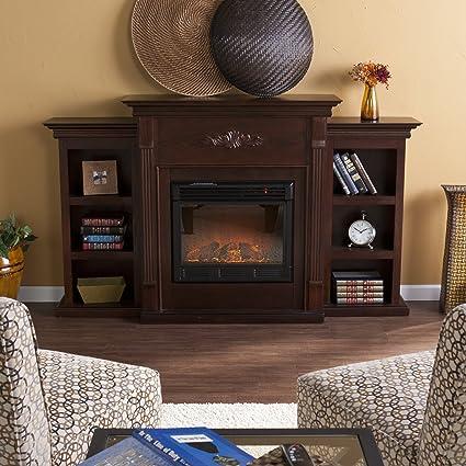 amazon com southern enterprises tennyson electric fireplace with rh amazon com electric fireplace bookshelves corner electric fireplace with bookcase