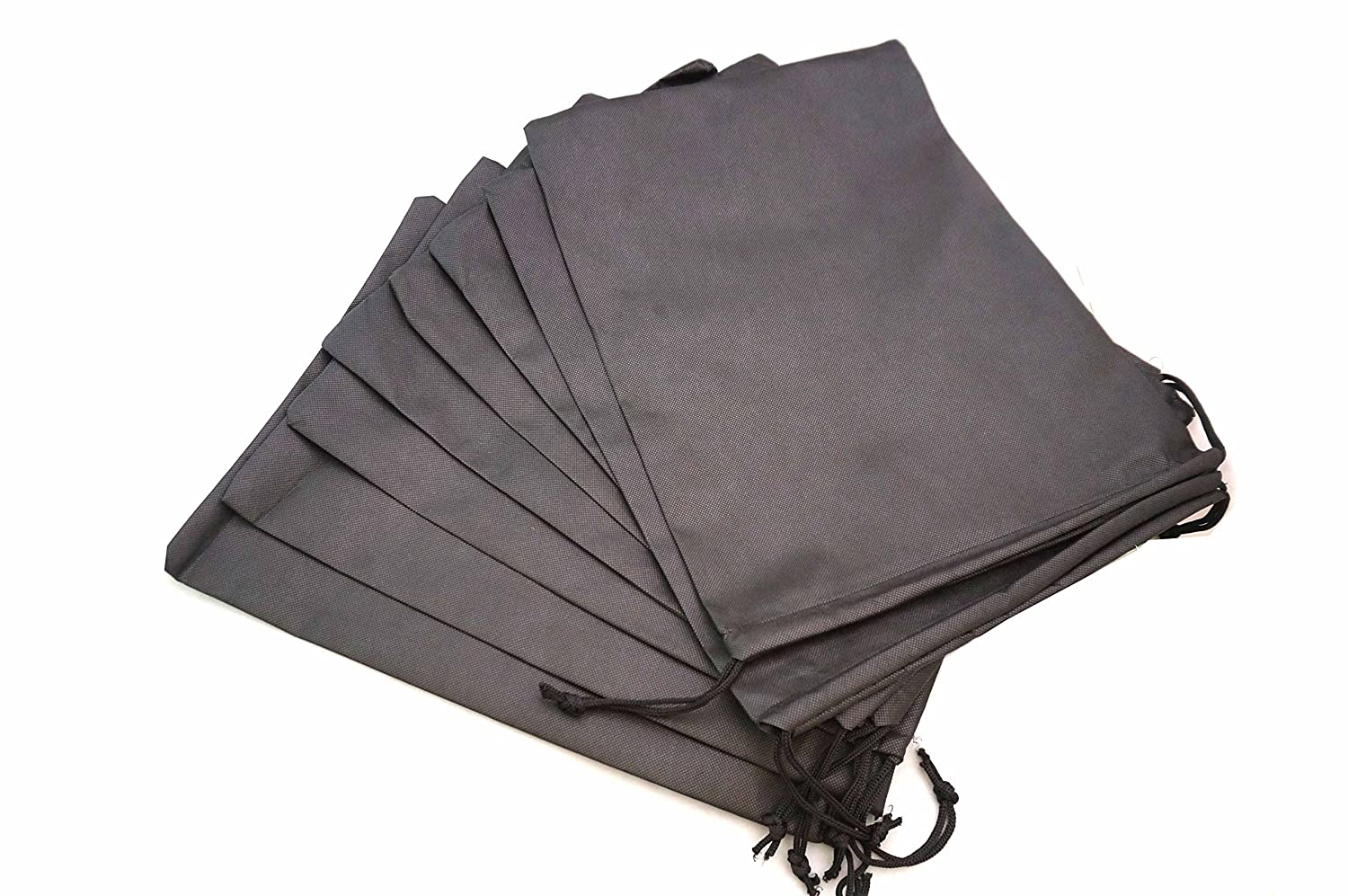 EN'DA Traveling Non-Woven Shoe Bags 1215 (pack of 8, Black) USA