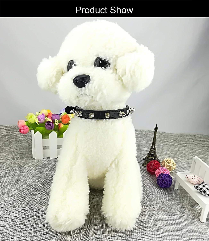 Newtensina Collar de perro de moda con pernos Collar de perrito ...