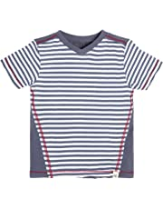 b03600f051f8 Burt's Bees Baby Baby Boys' T-Shirt, Short Sleeve V-Neck and