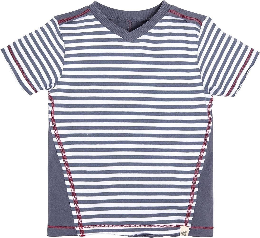 OPAWO Unisex Baby V-Neck Shirts Short//Long Sleeve Tees,Black//White//Gray