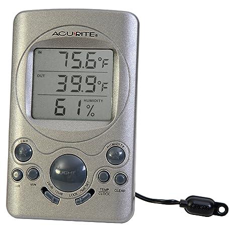 Amazon.com: AcuRite 00891 A3 interior/exterior termómetro ...