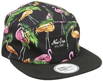 New Era Erwachsene Baseball Cap Mütze Tropical Flamingo Camper, Black Pink,  One size dc23daa03b