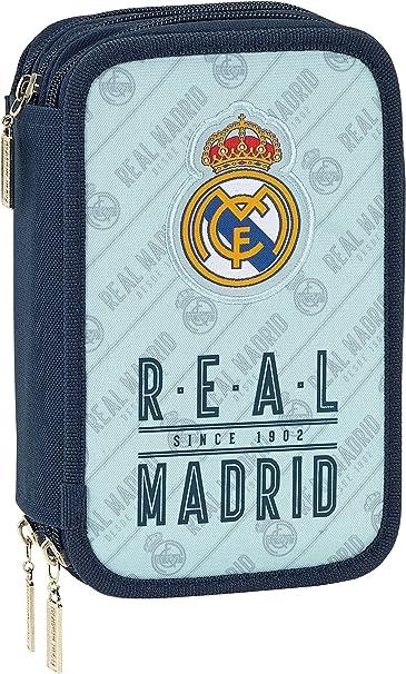 Safta Estuche Real Madrid Corporativa Oficial 41 Útiles Incluidos 210x60x105mm: Amazon.es: Ropa y accesorios