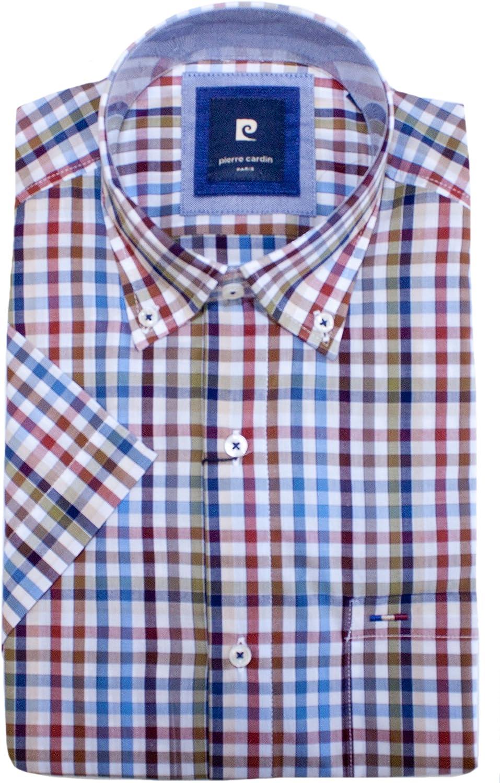 Pierre Cardin - Camisa Casual - Camisa de Ocio - con Botones ...