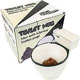 Fairly Odd Novelties Taza de café de cerámica con tapa oculta, 325 ml, color blanco