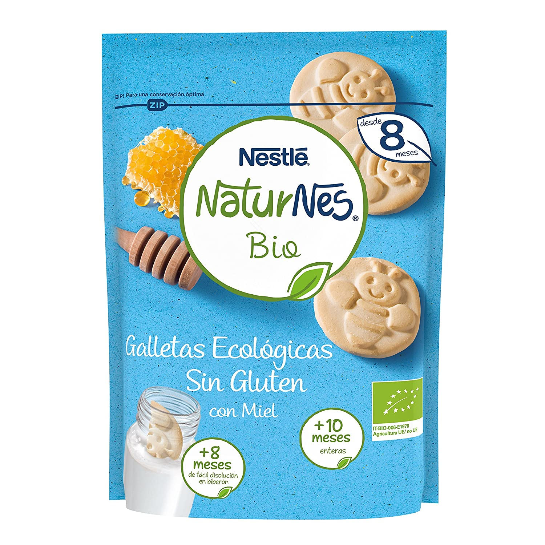 Nestlé Naturnes Bio - Paquete de 6x150g- Galletas sin gluten con miel - Para Bebés