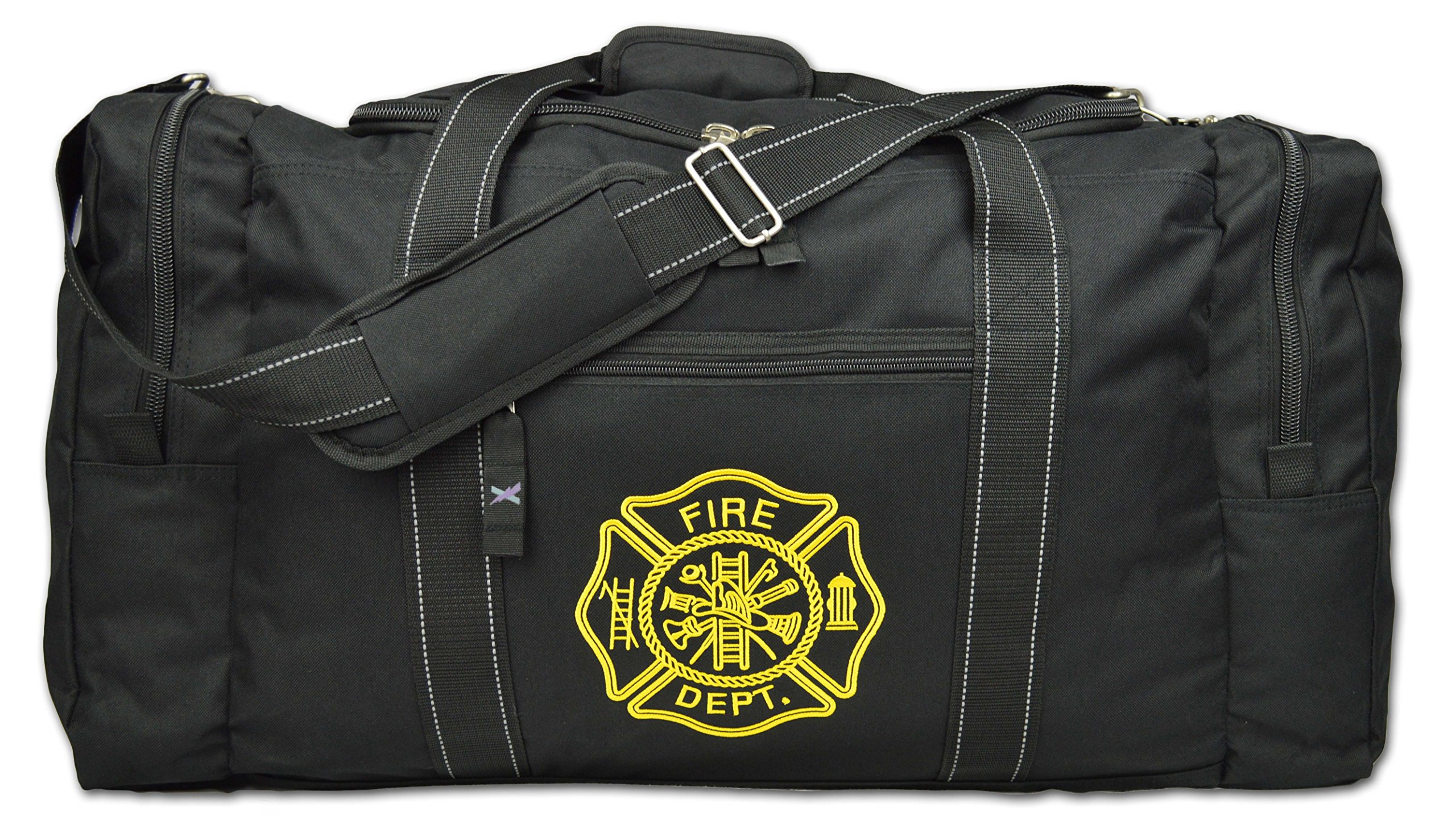 Lightning X Value Firefighter Turnout Gear Bag w/Maltese Cross - Black by Lightning X Products