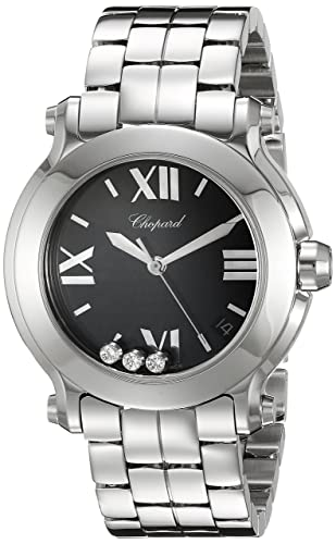 Chopard Women's Swiss Quartz Stainless Steel Dress Watch, Color:Silver-Toned (Model: 278477-3014)