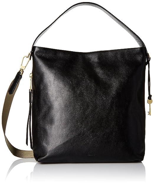 5ec986903 Fossil Maya Large HOBO Handbag, Black: Fossil: Amazon.ca: Clothing ...