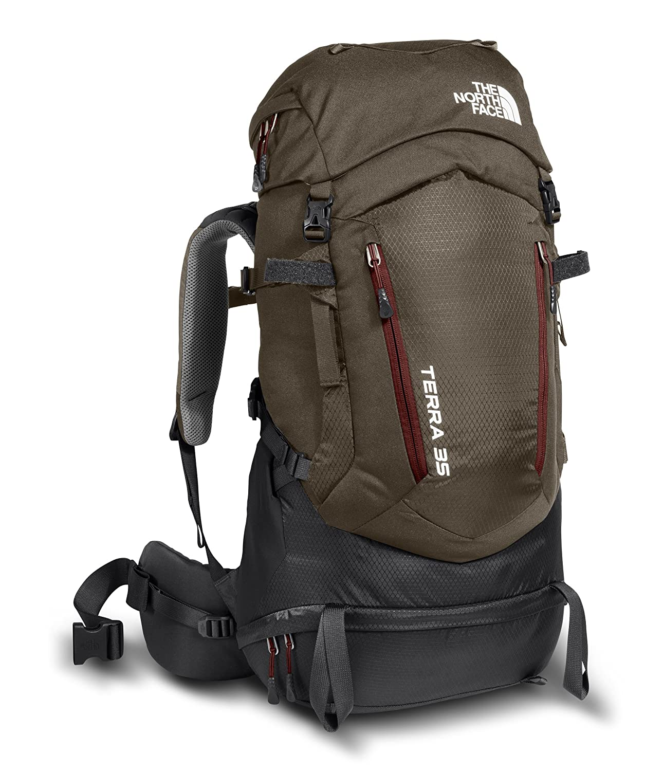The North Face Terra 35 Pack Large / X-Large Falcon Brown / Sequoia Red B06XJ4SN3J
