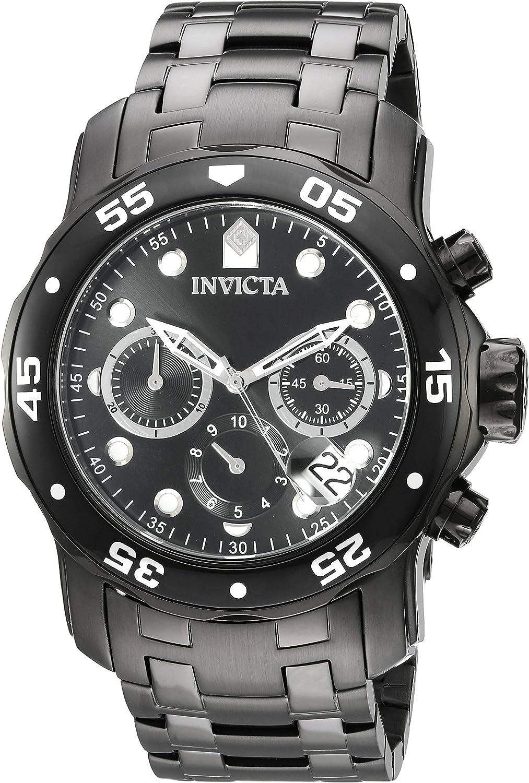 Invicta Men s Pro Diver Quartz Stainless Steel Watch, Color Black Model 21926