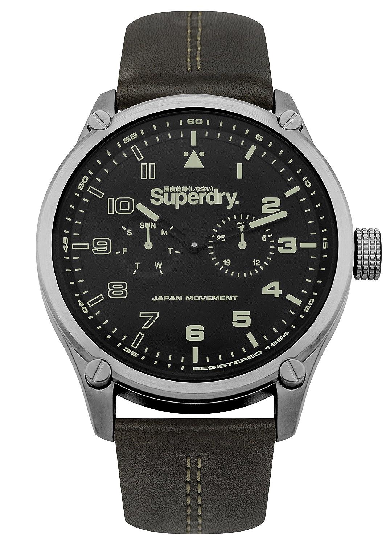 Superdry Reloj Analogico para Hombre de Cuarzo con Correa en Cuero SYG208BN