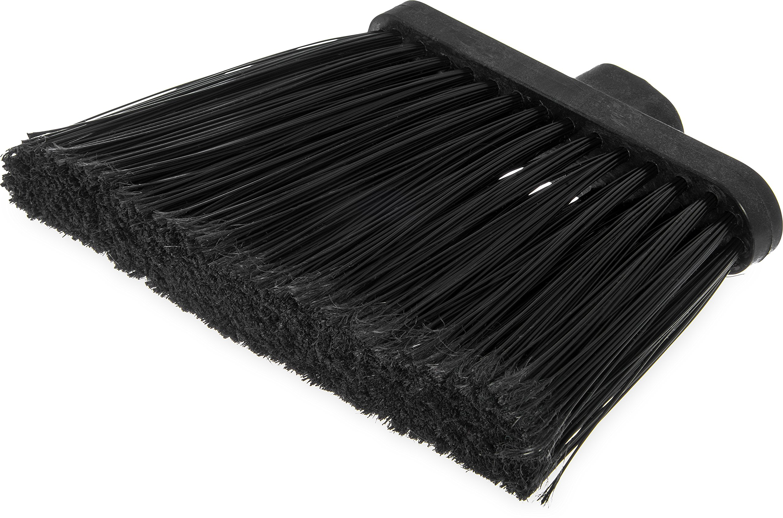 Carlisle 3686703 Duo-Sweep Medium Duty Flagged Angle Broom Head, Polypropylene Bristle, 8'' Overall Length x 12'' Width, Black (Case of 12) by Carlisle (Image #7)