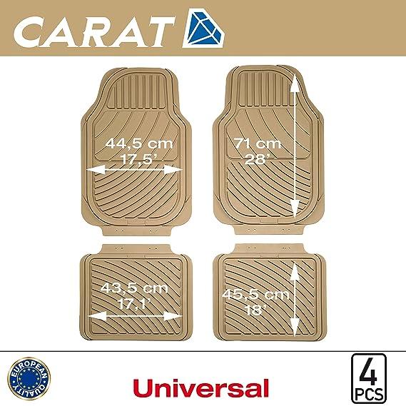 SUMEX Carat10 - Alfombra Goma Universal Carat Beige, 4 Piezas: Amazon.es: Coche y moto