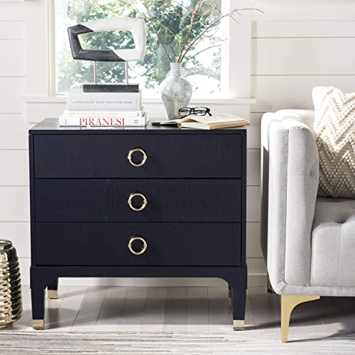 Safavieh Home Collection Lorna 3 Drawer Contemporary Night Stand Nightstand