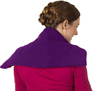 Sunny Bay Lavender Scented Body Heat Wrap - Heat Therapy & Aromatherapy for Pain Relief - for Shoulder, Neck, Upper & Lower Back (Purple)