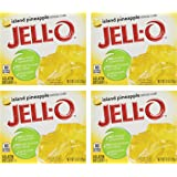 Jell-O Gelatin Dessert, Island Pineapple, 3-Ounce Boxes (Pack of 4)