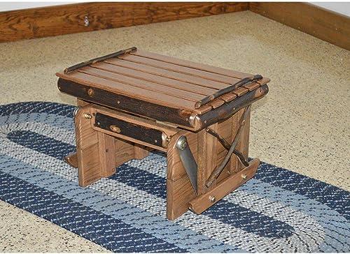 A L Furniture Co. Amish Hickory Gliding Ottoman