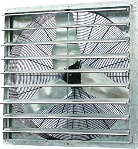 "iLiving - 36"" Wall Mounted Shutter Exhaust Fan- Automatic Shutter - Single Speed - Vent Fan For Home Attic, Shed, or Garage Ventilation, 6128 CFM, 9000 SQF Coverage Area"