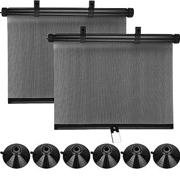 Tecunite 2 Packung Roller Umfangreiche Sonnenschirm Auto Fenster