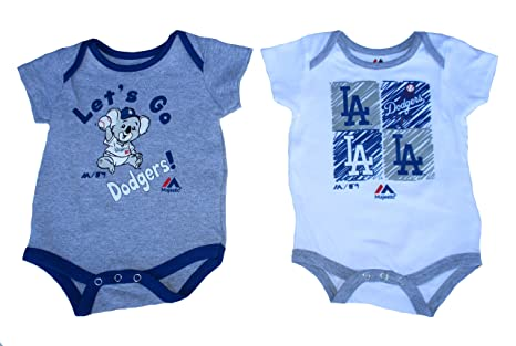 ade9db3f8 Amazon.com  2 Los Angeles Dodgers Infant Onesies Size 3-6 Months ...