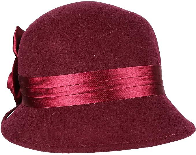 c7a3931e5 Sakkas 1121LC Femmes Vintage Style 100% Laine Cloche Bucket Le Chapeau  d'hiver avec