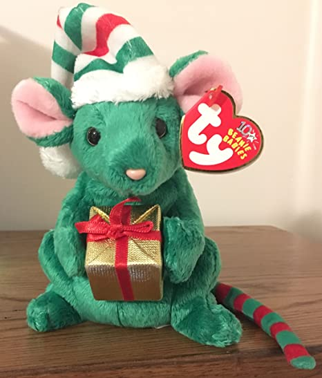4f28da5a274 Amazon.com  Ty Beanie Baby - Tidings The Christmas Mouse Rare Ty Store  Exclusive by Ty  Toys   Games