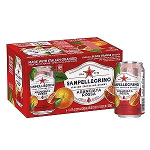 Sanpellegrino Blood Orange Sparkling Fruit Beverage Cans, 11.15 Fl Oz (pack of 6)