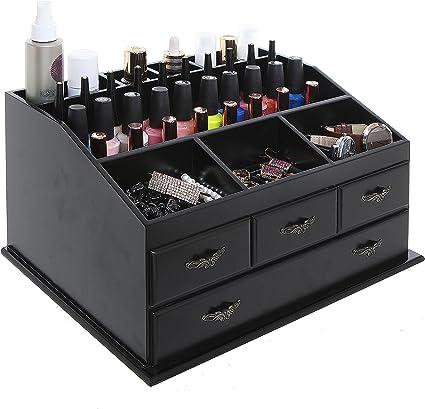 Amazon Com Wood Dresser Top Vanity Cosmetic Organizer Chest Box