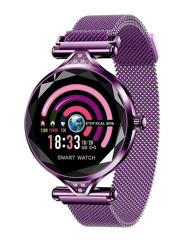 Reloj Inteligente Mujeres, Bluetooth Smartwatch con Banda de ...