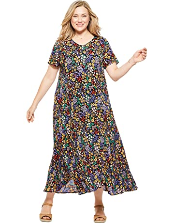 1f5afaf1 Woman Within Women's Plus Size Crinkle Dress