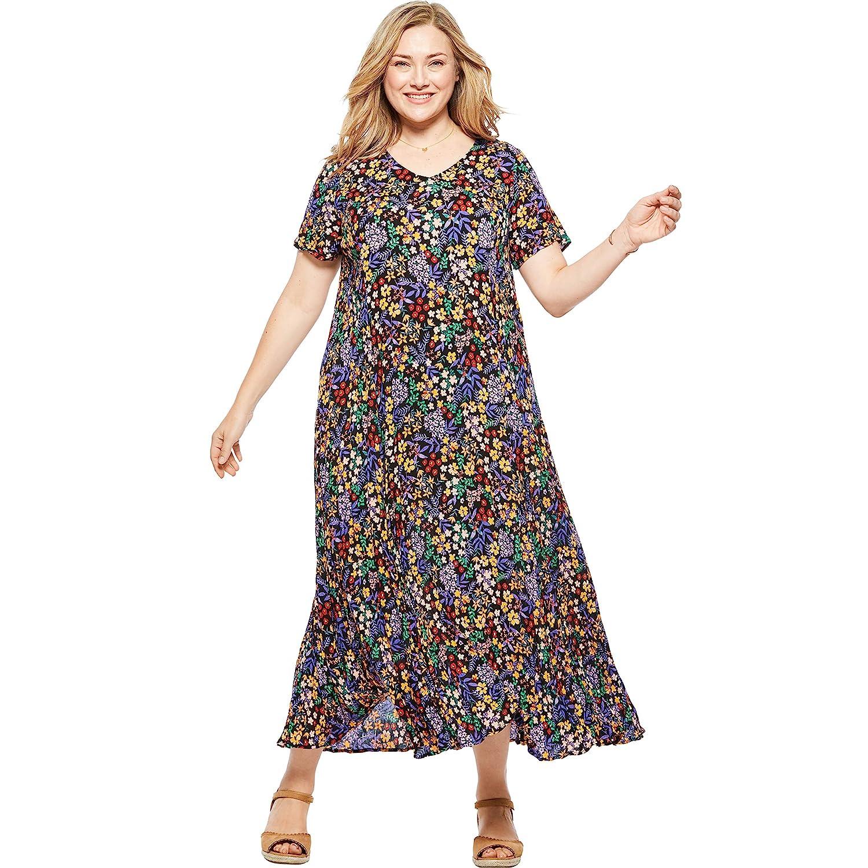 Woman Within Women\'s Plus Size Crinkle Dress