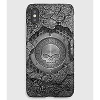Only in a Harley Davidson iPhone X, 8, 7, 6, 5, 4 Funda de plástico personalizada Premium y teléfono celular