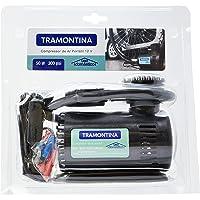 Tramontina 42330001, Compressor Ar Portátil 12V, Potencia 50W, Pressão Máxima 300 Psi, Vazão 8 Litros/Minuto, Preto
