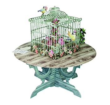 The bird table with roses 3d pop up greetings card paper dart the bird table with roses 3d pop up greetings card paper d m4hsunfo