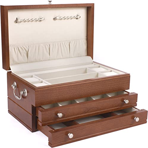 American Chest Corp. J02C First Lady Jewel Chest, Solid American Hardwood with Heritage Cherry Finish, Multicolor