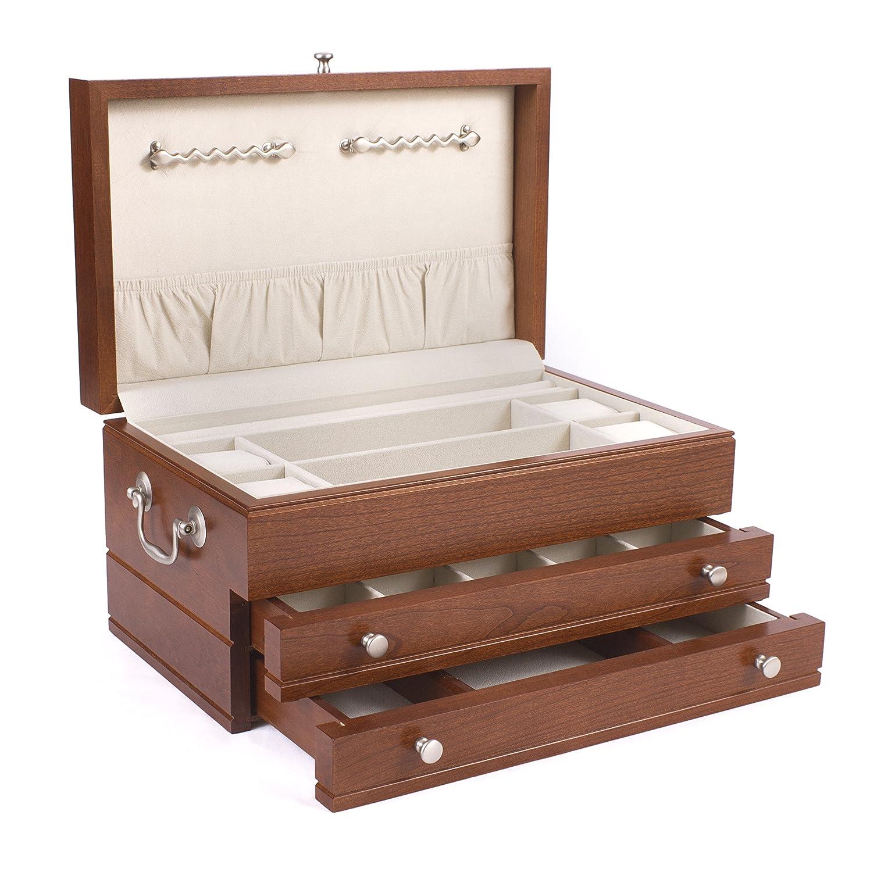 Amazoncom First Lady Jewelry Box Finish Cherry Home Kitchen