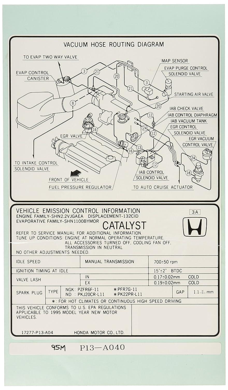 17277-P13-A04 Emission Label Genuine Honda