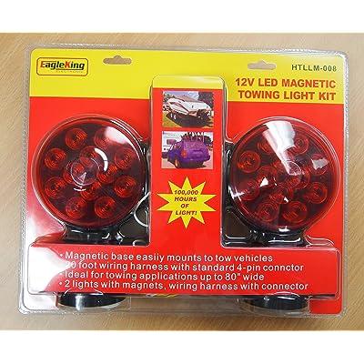 Eaglestar EAGLEKING 12V LED Magnetic Towing Trailer Light Kit 24 LEDs Multi-Function DOT: Sports & Outdoors