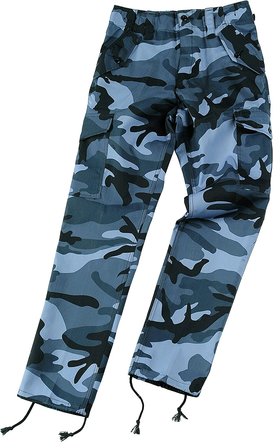 """NEW Midnight Blue Camo Military Style Combat Cargo Trousers 34/""""-38/"""""""