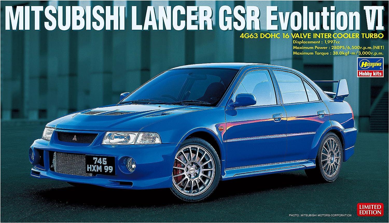 Multi-Colour Hasegawa HA20336 1:24 Mitsubishi Lancer GSR Evolution VI Model Kit