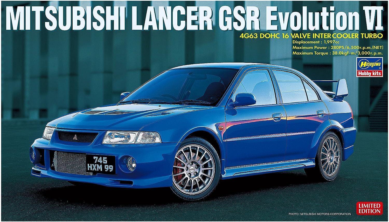 Hasegawa HA20336 - Kit de Modelo Mitsubishi Lancer GSR Evolution Vi (1:24): Amazon.es: Juguetes y juegos